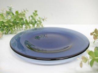 アラビア ARABIA オマ oma ガラスプレート ブルーベリーブルー 22cm ハッリ・コスキネン 廃盤希少品 B ●