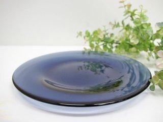 アラビア ARABIA オマ oma ガラスプレート ブルーベリーブルー 22cm ハッリ・コスキネン 廃盤希少品 A ●