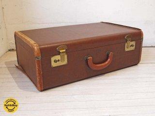 ヴィンテージトランク Vintage trunk トランクケース カバン アンティーク レザー ドイツ製 ★