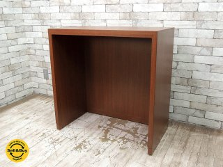 木製 ショップカウンター レジ台 作業台 ディスプレイ台 コンソールテーブル 店舗什器 W82cm ●