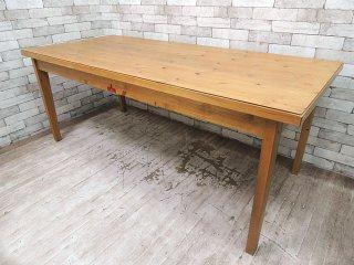 UKカントリースタイル パイン突板 ダイニングテーブル 作業台 W180cm ●