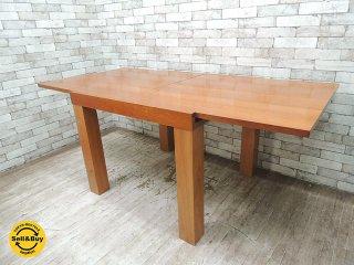 ボーコンセプト Bo Concept エッセン Essen 伸長式ダイニングテーブル チェリー材 北欧モダンデザイン デンマーク ●