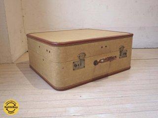 ヴィンテージトランク Vintage trunk スーツケース ベージュ ブラウン 鍵付 ★