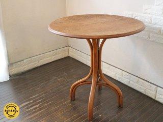 ロイズアンティークス Lloyd's Antiques 取扱 ベントウッド ラウンド カフェテーブル ヴィンテージ オーク材 サイドテーブル ◎