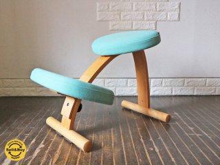 サカモトハウス SAKAMOTO HOUSE バランスイージーチェア Balans EASY 水色 デスクチェア 学習椅子 旧 リボ Rybo社 ◎