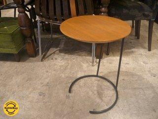 ケーススタディショップ case study shop スモールサイドテーブル T-710 ジェンス・リゾム Jens Risom ウォールナット無垢材 ブラックスチール ■