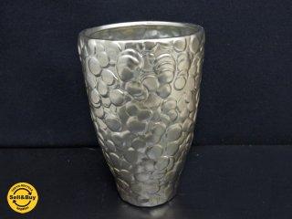 クレイ clay モダンデザイン フラワーベース 花瓶 シルバー インテリア ●