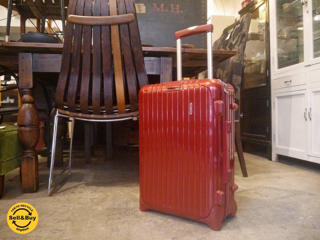 f46908a66e リモワ RIMOWA サルサ SALSA レッド キャビントローリー スーツケース 33L 機内持込可能 □