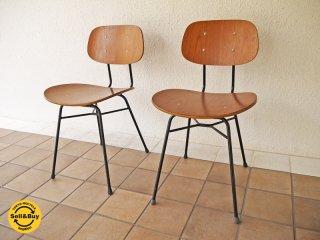 グラフ graf adシリーズ プランクトンチェア Plankton chair チーク材 2脚セット 総額:\64,368- カフェチェア ダイニングチェア インダストリアル ◇