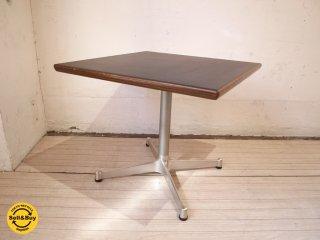 ミッドセンチュリー スタイル Mid Century style スクエア サイドテーブル ブラック天板 Xレッグ ★
