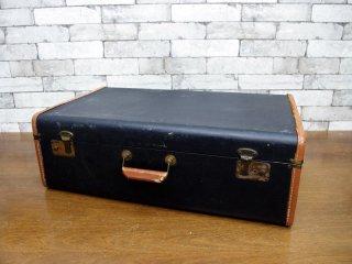ビンテージ vintage トランク trunk ブラック 店舗什器 撮影用 ●