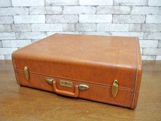 サムソナイト samsonite ビンテージ vintage レザー トランク trunk ブラウン 店舗什器 撮影用 ●