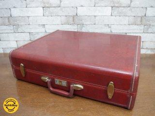 サムソナイト samsonite ビンテージ vintage レザー トランク trunk 鍵付き 店舗什器 撮影用 ●