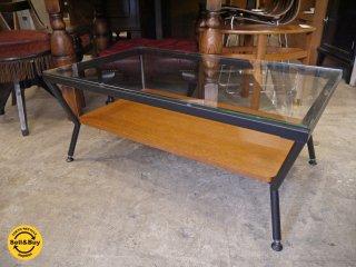フランフラン Francfranc メリオル ローテーブル センターテーブル Lサイズ ガラス × アイアン ■
