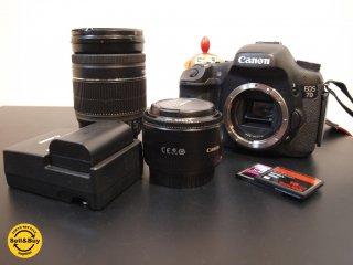 キャノン CANON EOS7D ボディ EFS18-200mm Image Stabilizer+EF50mm レンズ セット CFカード2枚付 ★