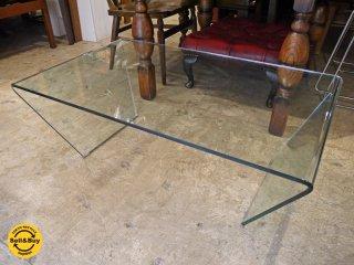 モーダエンカーサ moda en casa トラペズ trapez ガラス コーヒーテーブル センターテーブル モダンデザイン ■