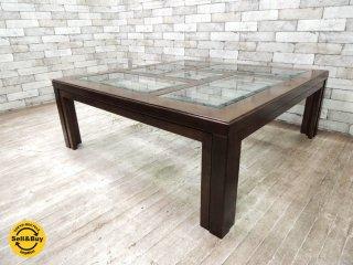 カリモク ドマーニ domani モーガントン Morganton センターテーブル コーヒーテーブル オーク材xガラス ●