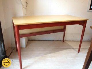 SCANDINAVIAN MODERN 取扱 スウェーデン製 デスク オフィステーブル W125cm バーチ材 北欧家具 スカンジナビアンモダン ★