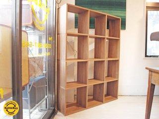 無印良品 MUJI スタッキングシェルフ ウォールナット材 4段3列 オープンシェルフ 飾り棚 ★