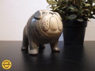 リサ・ラーソン Lisa Larson kennelシリーズ ブルドッグ bulldog グレー gray M サイズ スウェーデン インテリア オブジェ ★