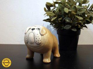 リサ・ラーソン Lisa Larson kennelシリーズ ブルドッグ bulldog ブラウン brown M サイズ スウェーデン インテリア オブジェ ★