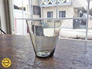 ヌータヤルヴィ Nuutajarvi #2744 グラス グレー カイ・フランク KAJ FRANCK 手吹き ビンテージ A ●