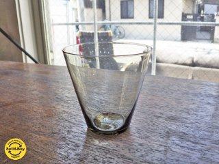 ヌータヤルヴィ Nuutajarvi #2744 グラス グレー カイ・フランク KAJ FRANCK 手吹き ビンテージ B ●