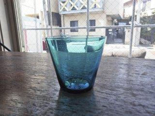 ヌータヤルヴィ Nuutajarvi #2744 グラス Sサイズ ターコイズ カイ・フランク KAJ FRANCK 手吹き ビンテージ ●