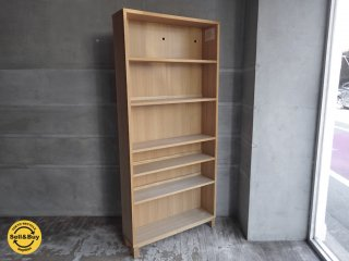 無印良品 MUJI タモ材 組み合わせて使える木製収納 ミドルタイプ 本棚 キャビネット ブックシェルフ 奥行21cm ♪