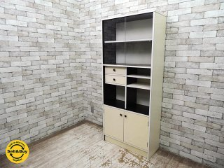 レトロポップ 食器棚 カップボード 本棚 昭和レトロ モダン ミッドセンチュリー ●