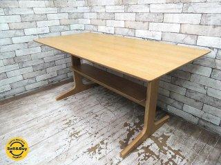 無印良品 MUJI リビングでもダイニングでもつかえるテーブル W130cm オーク材 (B) ●