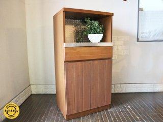 ウニコ unico ストラーダ STRADA レンジボード 食器棚 アッシュ材 ステンレス キッチン収納 ◎