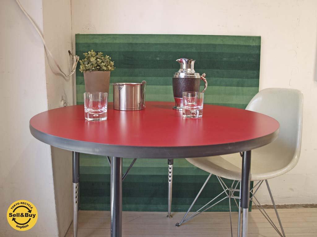 バルコ VIRCO 4000 ラウンドテーブル 高さ調整可能 コーヒーテーブル ダイニングテーブル ミーティングテーブル US ビンテージ ★