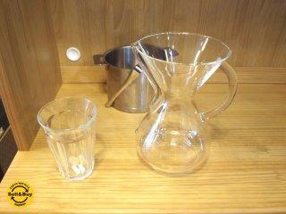 ケメックス CHEMEX コーヒーメーカー Coffee maker 6カップ ガラスハンドル 未使用品 ドイツ ★