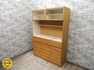 ウニコ unico トゥオ TUO キッチンボード カップボード 食器棚 アルダー材 W126cm 廃番アイテム 広松木工製 ◎