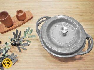 バーミキュラ Vermicular オーブンポットラウンド 22cm パールグレー ホーロー 無水鍋 ●