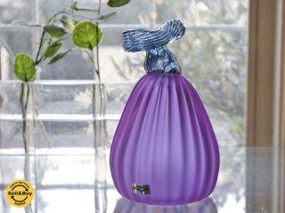 ヌータヤルヴィ Nuutajarvi ナス Eggplant アートガラス 80〜90's ビンテージ オイヴァ・トイッカ Oiva Toikka ●