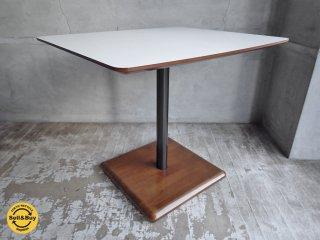 カリモク60+ カフェテーブル メラミントップ ラバートリー材 ♪