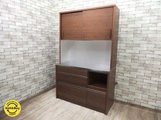 アクタス ACTUS ケントス KENTOS 124 カップボード ウォールナット 食器棚 キッチンボード 国産エコーファニチャー製 定価149,040- ◇