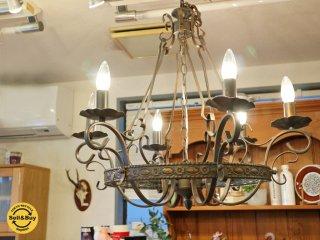 アンティ—ク Antique Style シャンデリア 6灯 照明 アイアン LED対応 ◎