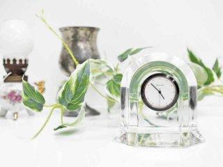 バカラ Baccarat ベガクロック VEGA 置き時計 クリスタル 動作確認済 ●
