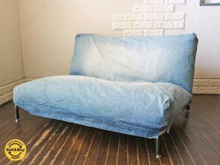 ジャーナルスタンダードファニチャー Journal Standard Furniture ロデ RODEZ カバーリング 2P ソファ デニム リクライニングソファ ◎