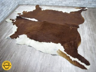 大判 カウラグ 牛革カーペット ラグマット 毛皮 敷物 ●
