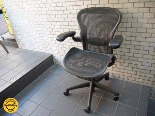 ハーマンミラー HermanMiller アーロンチェア Aeron Chair ランバーサポート Aサイズ スタンダード デスクチェア ■