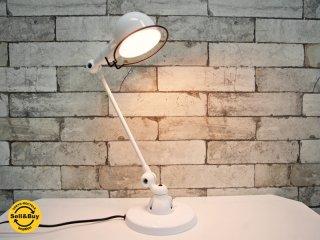 ジェルデ Jielde シグナル デスクランプ SIGNAL DESK LAMP JD303 ホワイト フランス 美品 ●