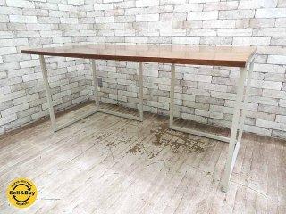 ビスレー BISLEY デスクプラン ウォールナット天板 + Lフット2個 (A) 机 ワーキングテーブル W150cm 英国 ●