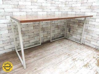 ビスレー BISLEY デスクプラン ウォールナット天板 + Lフット2個 (B) 机 ワーキングテーブル W150cm 英国 ●
