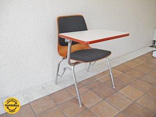パグホルツ PAGHOLZ プライウッド スタッキングチェア ワークトップテーブル付き スクールチェア ドイツ製 ◇