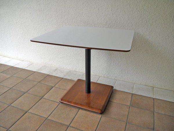 カリモク60+ karimoku ロクマルプラス カフェテーブル メラミントップ×ラバーツリーベース ジャパニーズミッドセンチュリーモダンデザイン リビングテーブル デスク ◇