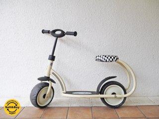 ハウク Hauck ベスタ Besta キックスクーター バランスバイク キックバイク 子供用 足こぎ 乗り物 2輪 チェッカー柄 ドイツ 定価:¥2.6〜3.2万 ◇